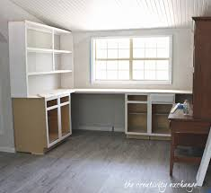 inexpensive ways to create built in shelving built in office
