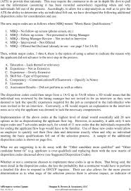 applicant tracking disposition codes pdf accordingly to allow for a step analysis as well as to give the ats