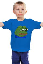 Детская <b>футболка классическая</b> унисекс <b>SAD</b> FROG #1606702 за ...