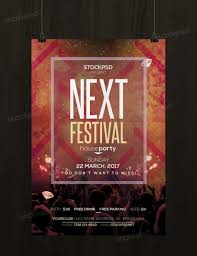 next festival psd template flyer flyershitter com next festival flyer template photoshop