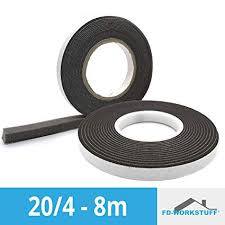 COMPRIBAND 20/4 Anthracite <b>8 m Roll</b> Band Width 20 mm ...