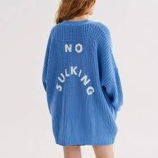 Online Shop <b>HDY Haoduoyi Women Fashion</b> Sweater Blue Single ...