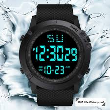 Fashion <b>Men</b> LED <b>Digital Watch</b> Waterproof Date Military <b>Sport</b> ...