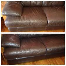 before and after cleaning leather couches works amazing 18 cup distilled white cheyanne leather trend sofa