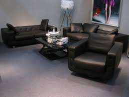hot sale modern chesterfield genuine leather living room sofa set black color for feather inside cushions black leather living room