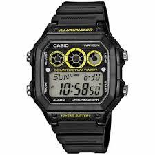 <b>Часы</b> мужские <b>CASIO AE</b>-<b>1300WH</b>-<b>1A</b>: полимер — купить в ...