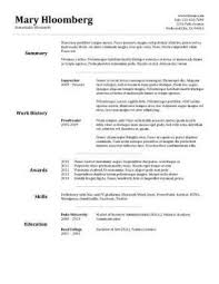 goldfish bowl free resume template for microsoft word