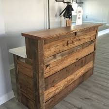 office reception counter reclaimed barnwood reception desk by matthew karl aspera 10 executive office nappa leather brown