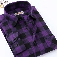 Aoliwne <b>2019</b> brand <b>men</b> short dress sleeve shirt purple smart ...