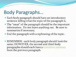 How To Start A Third Body Paragraph In An Essay   Essay