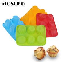 MOSEKO 6 отверстий, силиконовая <b>форма для выпечки</b>, <b>3D</b> ...
