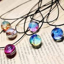 <b>Vintage Necklace Galaxy</b> Glass <b>Pendant</b> reviews – Online shopping ...