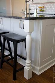 country kitchen column spout: home improvement adding column supports to counter overhang plus finished kitchen photos make it and love it
