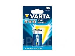 <b>Батарейка Крона Varta</b> High Energy, <b>6F22</b>, 1 шт, 9V, Blister (4922 ...