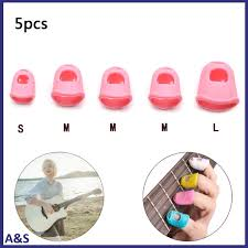 <b>5 Pcs</b> Multifunction <b>Silicone</b> Thimble Tip <b>Guitar</b> Finger Guards DIY ...