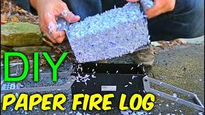 DIY Paper Fire Logs - YouTube
