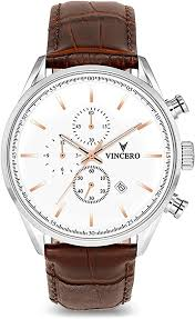 Vincero Luxury <b>Men's Chrono</b> S Wrist <b>Watch</b> - <b>Top</b> Grain Italian ...