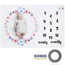 <b>Baby Milestone Blanket</b> Extra Large Fleece Blanket Set with ...
