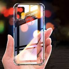 Samsung Galaxy M31 Transparent Case <b>Airbag Shockproof Clear</b> ...