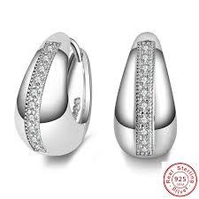 pendientes mujer moda 925 sterling silver jewelry U cz studs ...