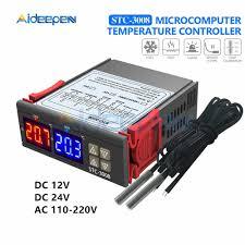 STC 3008 <b>Dual</b> Digital <b>Temperature Controller Two Relay</b> Output ...