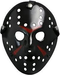 Costume <b>Prop Horror</b> Hockey Mask <b>Halloween</b> Myers Black ...