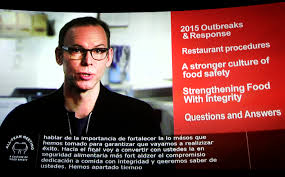 chipotle repeatedly told employees they need to stay home if they steve ells founder co ceo and chairman of chipotle mexican grill appears via video conference at a new york movie theater as he speaks from denver to