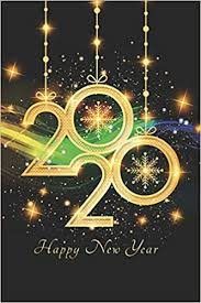 2020 <b>Happy New Year</b>: 6 X 9 | 120 empty pages with <b>gray</b> lines ...
