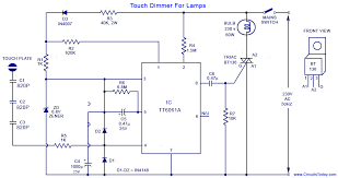 touch dimmer circuit for lamps using tt ic touch dimmer circuit diagram