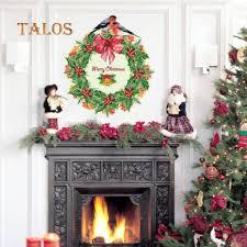 TALOS <b>Christmas Wreath</b> Garland DIY <b>Window Glass</b> Decal Decor ...
