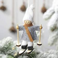 Nivalkid <b>Christmas Decoration</b> Non-Woven <b>Ski Snowman</b> Small ...