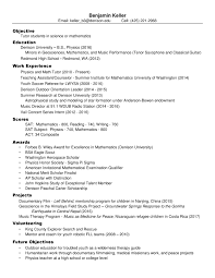 resume private tutoring ben keller