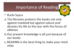significance of reading  importance of readingimportance of reading