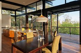 ampamp prep table: contemporary broom way residence keribrownhomes open kitchen and dining room rustic house interior decorating ideas with glass window and sliding door plus brown wooden table for  chair with high back plus island with drawer