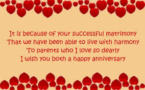 Anniversary wishes for parents – WishesMessages.com via Relatably.com