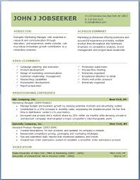 free resume templates for  seangarrette coincreased one product line marketing manager professional experience free resume templates free download     resume templates