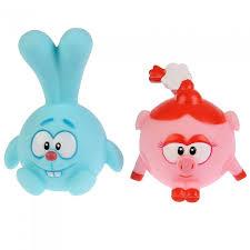 <b>Набор из 2-х</b> игрушек для ванны Смешарики Крош и Нюша ...