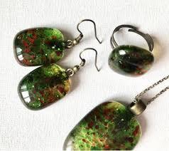 Купить <b>набор украшений</b> ручной работы серьги кулон и кольцо ...