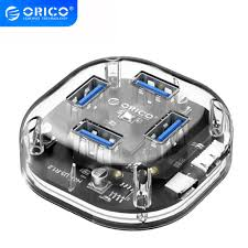<b>ORICO</b> Transparent HUB Multi <b>4 7 Port</b> High Speed USB3.0 Splitter ...