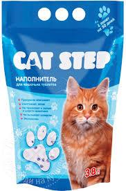 <b>Наполнитель</b> для кошачьего туалета <b>Cat</b> Step <b>силикагелевый</b> 3.8л