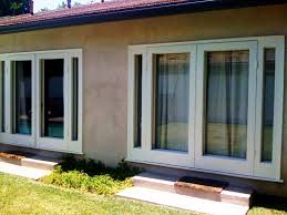 patio doors with blinds between the glass: blinds between the glass almond vinyl sliding patio door with screen