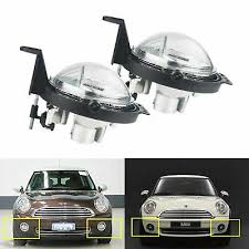 Pair Front Bumper DRL Driving Fog Light Lamps Mini <b>R55 R56 R57</b> ...