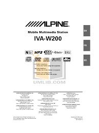 download free pdf for alpine iva w205 car video manual Alpine Iva D106 Wiring Diagram pdf for alpine car video iva w205 manual Alpine IVA-D106 DVD
