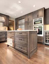 Grey Stained Kitchen Cabinets Thoughtful Handsome Kitchen Remodel Newly Reconfigured With Chef