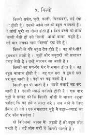 essay on the cat in hindi