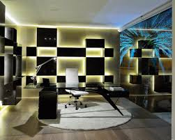 professional office decorating ideas for amazing black glass office