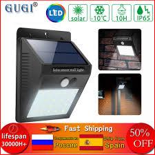 20 LED Solar Powered PIR <b>Motion Sensor</b> Security Wall Light ...