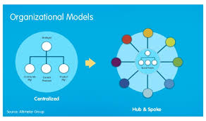 Image result for hub and spoke organizational model
