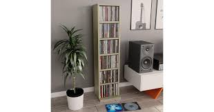 <b>CD Cabinet</b> Sonoma Oak <b>21x20x88</b> cm Chipboard - Matt Blatt