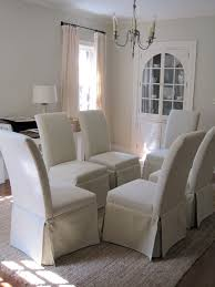 White Fabric Dining Room Chairs